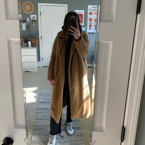 Urban Outfitters Jackets & Blazers - UO Light Before Dark Double-Breasted Teddy Coat